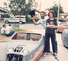 Big Daddy Ed Roth and me at his house in Anaheim LA.jpg