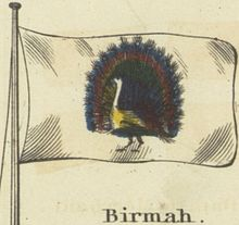 Birmah. Johnson's new chart of national emblems, 1868.jpg