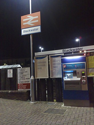 Blackwater railway station - Image: Blackwater railway station