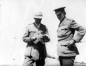 Blair Swannell - Swannell (right) in Egypt 1915