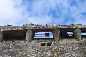 Blarney Stone - View of the Blarney Stone from the ground