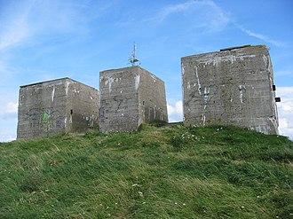 Mammut radar - Concrete emplacement built at Cap Fagnet, Fécamp, Normandy, where the Mammut was never erected