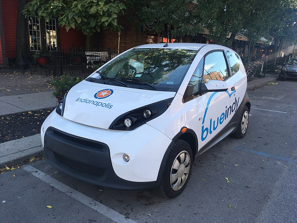BlueIndy carshare car