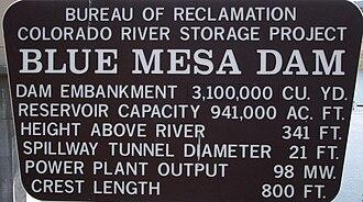 Blue Mesa Dam - Blue Mesa Dam