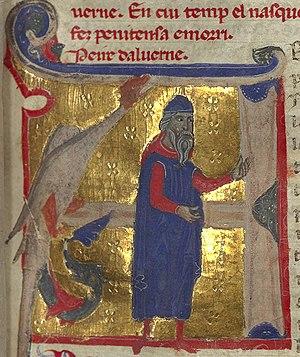 Peire d'Alvernhe - Peire d'Alvernhe as an old man.