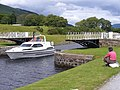 Boat at Moy Swing Bridge - geograph.org.uk - 888785.jpg