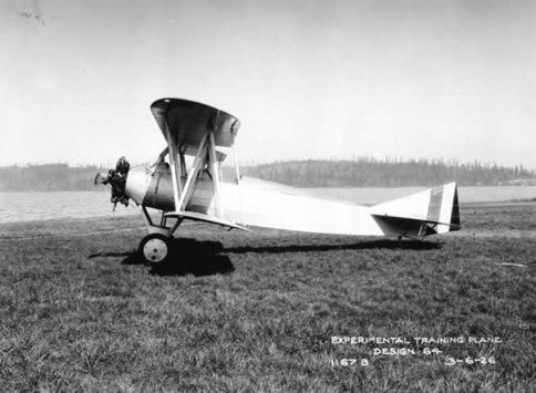 Boeing Model 64 on wheels