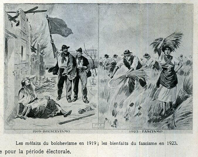 Bolchevisme vs fascisme (propaganda poster)