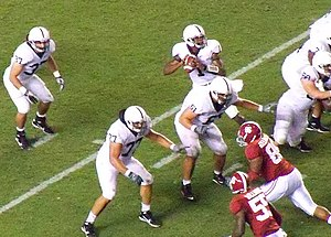 2010 Penn State Nittany Lions football team - Bolden drops back to pass