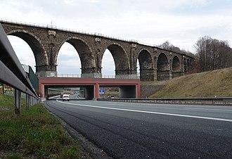 European route E40 - Image: Borna Viadukt Tunel