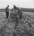 Bosbouw, arbeiders, landbouwmachines, werktuigen, pootwerkzaamheden, grondbewerk, Bestanddeelnr 253-5663.jpg