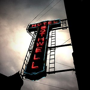 National Register of Historic Places listings in Pettis County, Missouri - Image: Bothwell Hotel Sedalia Neon Sign