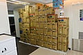 Bottled Water Boxes Stacked at Family Mart Xindong Store 20150820.jpg