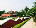 Boundary wall of Shilaidaha Rabindra Kuthibadi planed and designed by poet Rabindranath like the waves of the river Padma. 1.jpg