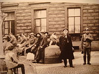 Bourgeois in the line to compulsory works Petrograd 1919.jpg