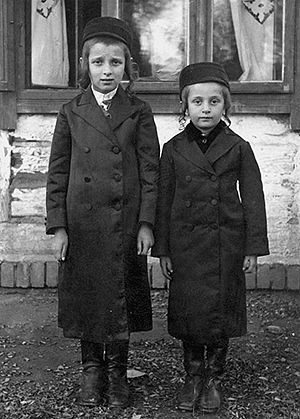Błażowa - Two young Jewish boys circa 1930 from Błażowa (Bluzhov) dressed in their best clothes (perhaps for a wedding or the Sabbath). Unknown photographer. Subjects unknown almost certainly perished in the Holocaust.
