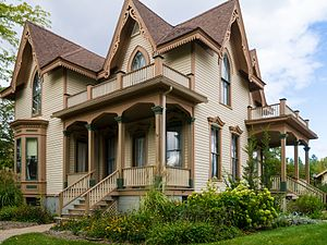 National Register of Historic Places listings in Midland County, Michigan - Image: Bradley House