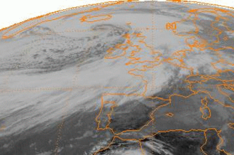 Explosive cyclogenesis - The Braer Storm of January 1993 explosively deepened to a record low of 914 mbar (hPa)