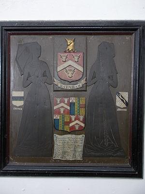 Mitcheldean - Monumental brass of wives of Sir Thomas Baynham(d.1499/1500), Church of St Michael, Mitcheldean