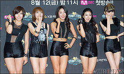 Brave Girls at the Superstar K3 red carpet premiere.