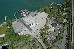 Bregenzer Festspiele - Aerial view of the stage of the Bregenzer Festspiele at and on Lake Constance (2008)