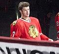 Brent Seabrook Chicago Blackhawks Stanley Cup Banner Ceremony (5104271022).jpg