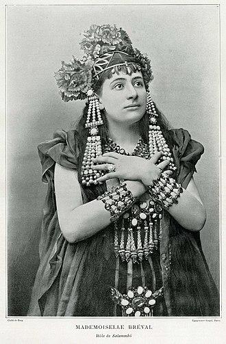 Lucienne Bréval - Image: Breval as Salammbo