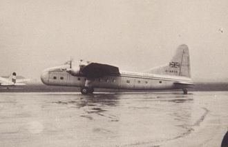 Air Charter Limited - Bristol Freighter Mark 32 of Air Charter at Manchester during 1956