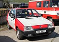 Brno, Řečkovice, depozitář TMB, DOD 2015, hasičská Škoda Favorit (2015-04-25; 01).jpg