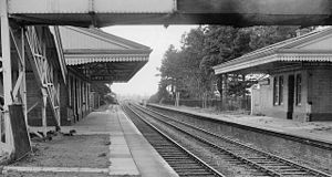 Broadway railway station - The station in 1962