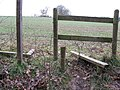 Broken stile near Haven Bridge - geograph.org.uk - 1153517.jpg