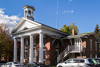 Brome Lake, Quebec - The Old Court House and Registry Office of Brome County.