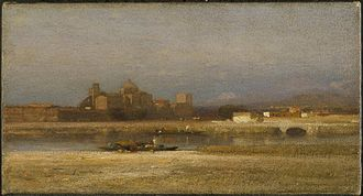 Samuel Colman - Samuel Colman. On the Viga, Outskirts of the City of Mexico, 1892. Oil on canvas. Brooklyn Museum