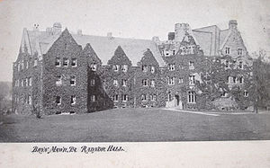 Cope and Stewardson - Radnor Hall, Bryn Mawr College, Bryn Mawr, Pennsylvania (1887).