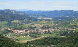 Bubbio - Image: Bubbio, Piemonte, panorama 2014