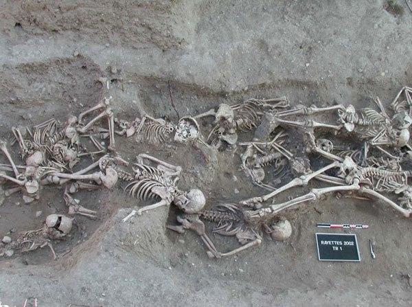 Bubonic plague victims-mass grave in Martigues, France 1720-1721