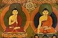 Buddhas detail painting in the chapel housing the burial chorten of the 10th Panchen Lama, Tashilhunpo Monastery, Shigatse, Tibet (7).jpg