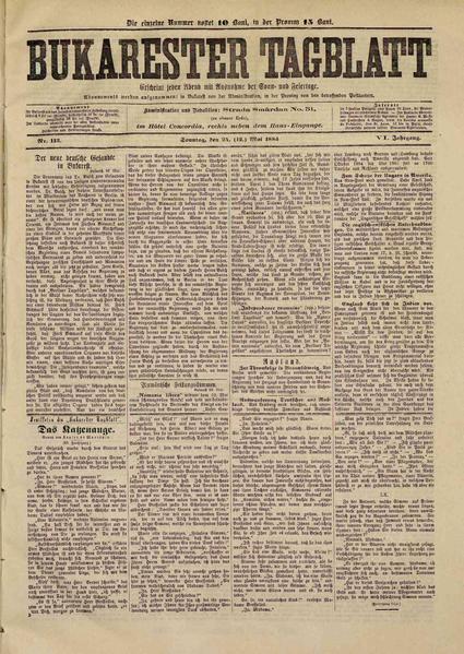 File:Bukarester Tagblatt 1885-05-24, nr. 113.pdf