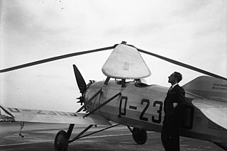 Cierva C.19 two-seat autogyro