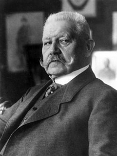 Paul von Hindenburg Prussian-German field marshal, statesman, and president of Germany