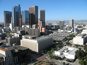 Bunker Hill in downtown Los Angeles as seen fr...