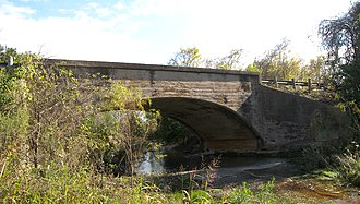 National Register of Historic Places listings in Hays County, Texas - Image: Bunton branch bridge 2009
