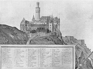 Butter-churn tower - The highest butter-churn tower - the bergfried at Rheinfels Castle, 1607
