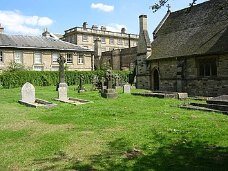 Holy Cross Church, Burley - Looking from the churchyard across to the mansion