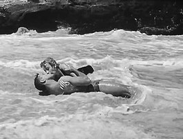 Burt Lancaster en Deborah Kerr in From Here to Eternity