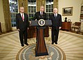 Bush announces resignation of Rumsfeld, nomination of Gates, November 8, 2006.jpg