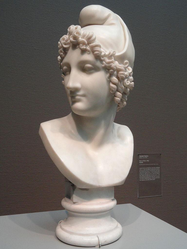 Filebust Of Paris, 1809, By Antonio Canova, Marble - Art -7756