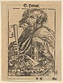 Bust of Saint Peter, from the Large Series of Wittenberg Reliquaries; verso- Martin Luther (1548) MET DP832124.jpg