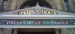 Buxton Opera House - Detail above the entrance