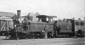 CGR 4th Class 4-6-0TT 1880 - No. E29 on a passenger train, c. 1886